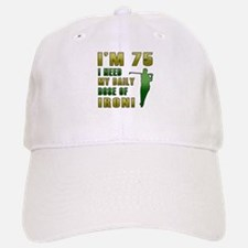 75th Birthday Golf Humor Baseball Baseball Cap