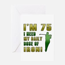 75th Birthday Golf Humor Greeting Card