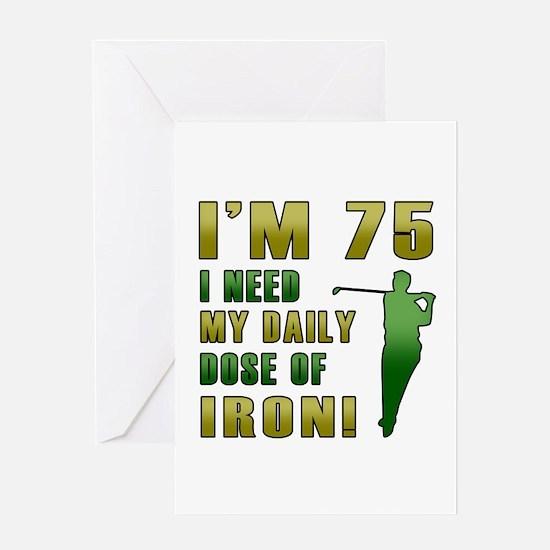 75th Birthday Golf Humor Greeting Card