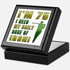 75th Birthday Golf Humor Keepsake Box