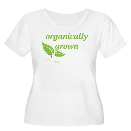 Organically Grown Women's Plus Size Scoop Neck T-S