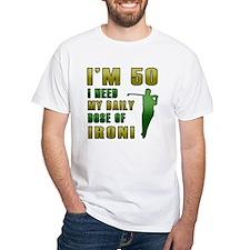 50th Birthday Golf Humor Shirt