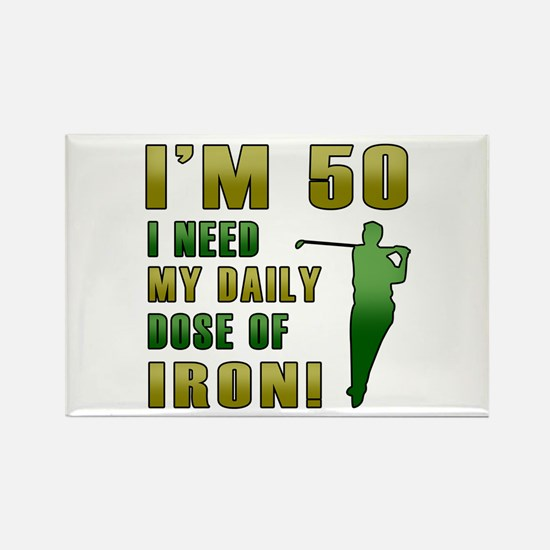 50th Birthday Golf Humor Rectangle Magnet