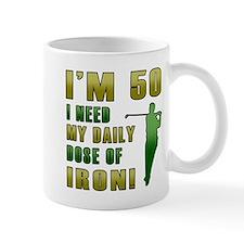 50th Birthday Golf Humor Mug