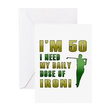50th Birthday Golf Humor Greeting Card