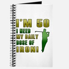 50th Birthday Golf Humor Journal
