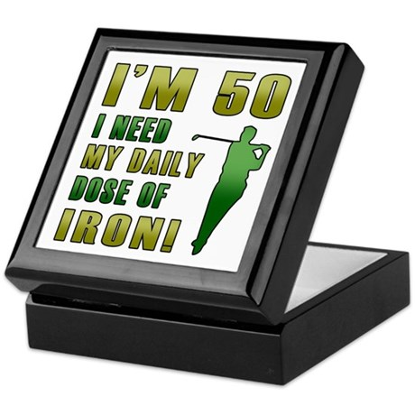 50th Birthday Golf Humor Keepsake Box