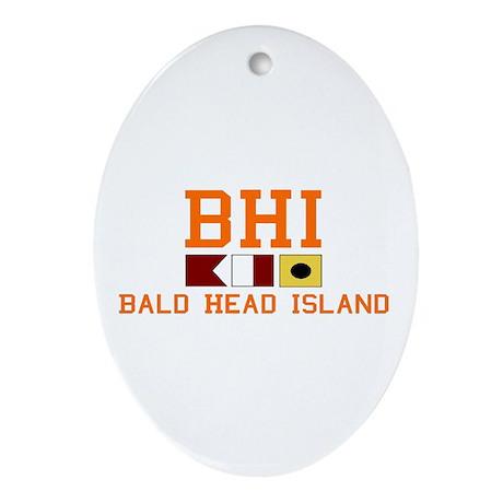 Bald Head Island NC - Nautical Design Ornament (Ov