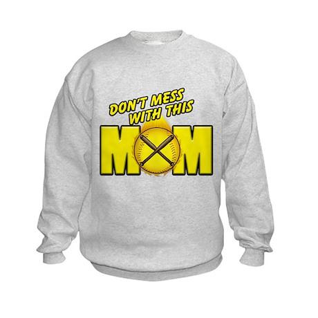 Softball Mom Kids Sweatshirt