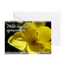Yellow Tulip Sympathy Card 5x7