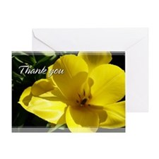 Yellow Tulips Thank You Card 5x7