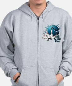 Talk to the Pins Zip Hoodie