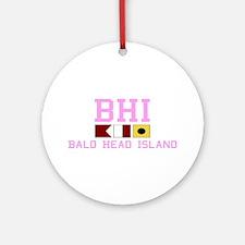 Bald Head Island NC - Nautical Design Ornament (Ro