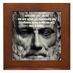 Greek Education Aristotle Framed Tile
