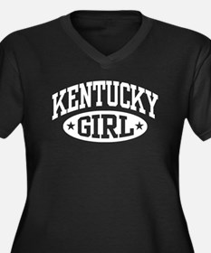 Kentucky Girl Women's Plus Size V-Neck Dark T-Shir