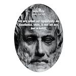 Greek Education Aristotle Oval Ornament