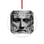 Greek Education Aristotle Ornament (Round)