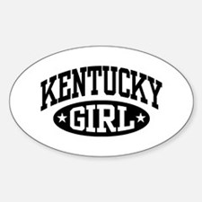 Kentucky Girl Sticker (Oval)