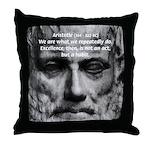 Greek Education Aristotle Throw Pillow