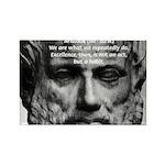 Greek Education Aristotle Rectangle Magnet
