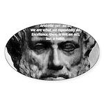 Greek Education Aristotle Oval Sticker