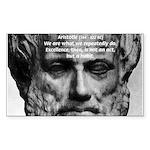 Greek Education Aristotle Rectangle Sticker