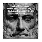 Greek Education Aristotle Tile Coaster
