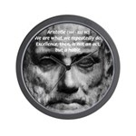 Greek Education Aristotle Wall Clock