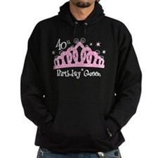 Tiara 40th Birthday Queen Hoodie