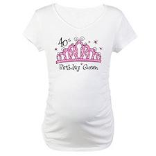 Tiara 40th Birthday Queen Shirt
