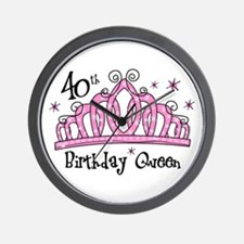Tiara 40th Birthday Queen Wall Clock