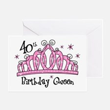 Tiara 40th Birthday Queen Greeting Card