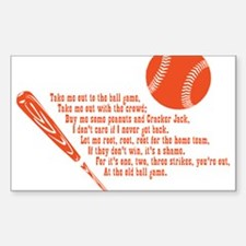Baseball Sticker (Rectangle)