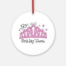Tiara 50th Birthday Queen Ornament (Round)
