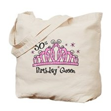 Tiara 50th Birthday Queen Tote Bag