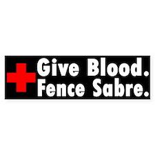 Blood Donation Bumper Bumper Sticker