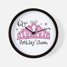 Tiara 60th Birthday Queen Wall Clock