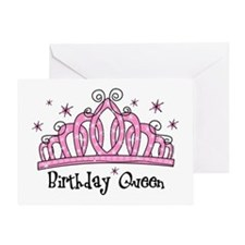 Tiara Birthday Queen Greeting Card