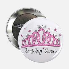 """Tiara Birthday Queen 2.25"""" Button"""