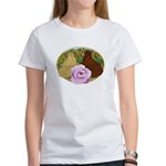 Trumpeter Pigeons and Rose Women's T-Shirt