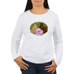 Trumpeter Pigeons and Rose Women's Long Sleeve T-S