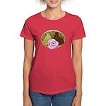 Trumpeter Pigeons and Rose Women's Dark T-Shirt