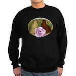 Trumpeter Pigeons and Rose Sweatshirt (dark)