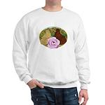 Trumpeter Pigeons and Rose Sweatshirt
