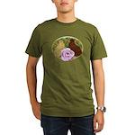 Trumpeter Pigeons and Rose Organic Men's T-Shirt (