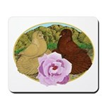 Trumpeter Pigeons and Rose Mousepad