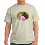 Trumpeter Pigeons and Rose Light T-Shirt