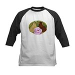 Trumpeter Pigeons and Rose Kids Baseball Jersey