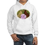Trumpeter Pigeons and Rose Hooded Sweatshirt