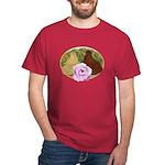 Trumpeter Pigeons and Rose Dark T-Shirt